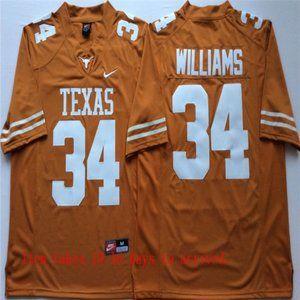 Texas Longhorns #34 Ricky Williams Jersey